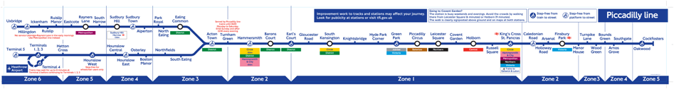 Picadilly line, underground Londres