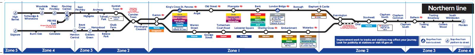 Why Dont The Individual Line Maps Inside The Underground Trains - Northern line map london