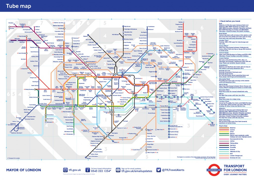 London Underground Standard Map
