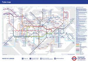 Mapa Estandard del metro de Londres