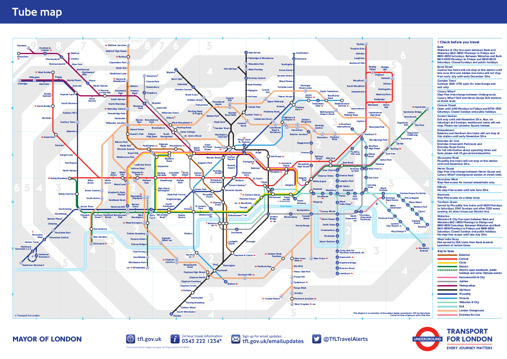 London Light Rail Map.London Underground Basic Information Metro De Londres Mapa