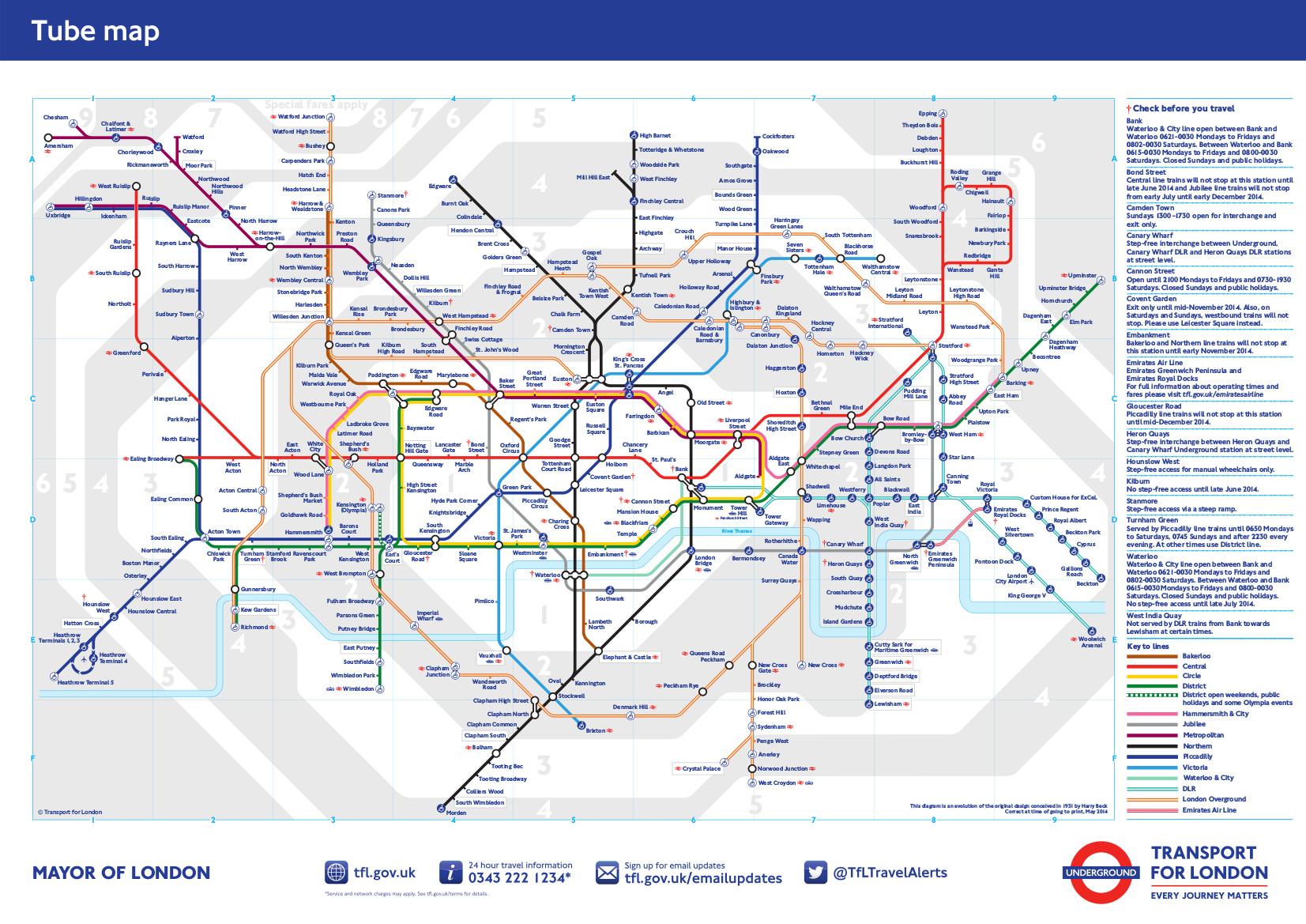 metro de londres mapa Información básica del metro de Londres.  Metro de Londres | mapa  metro de londres mapa