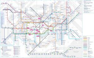 mapa del metro de londres 2020
