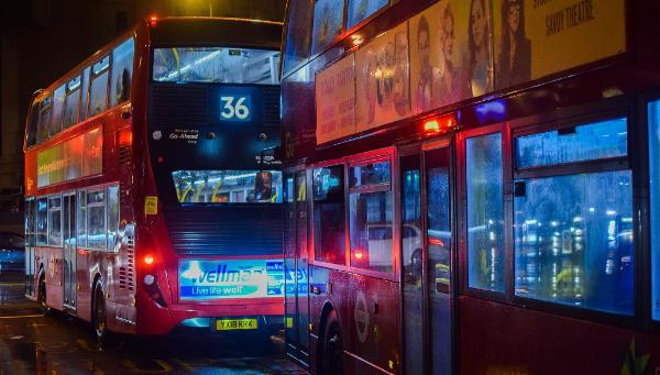 transporte en la ciudad de Londres, UK