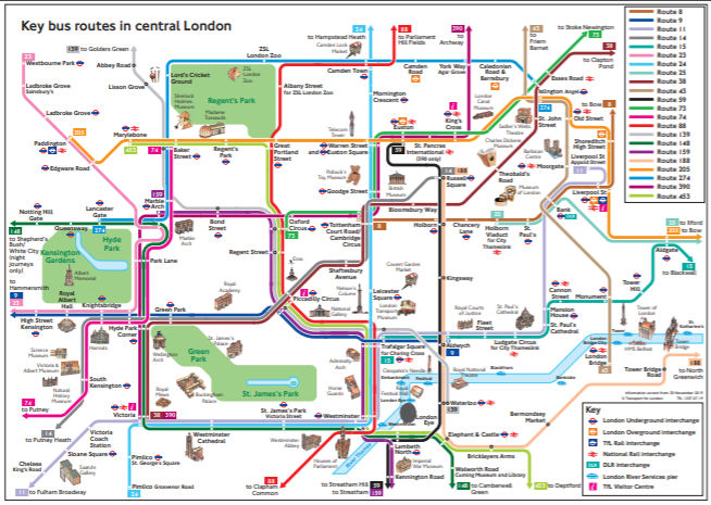 rutas de buses en londres